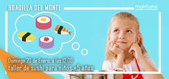 Taller de sushi para niños en Boadilla del Monte
